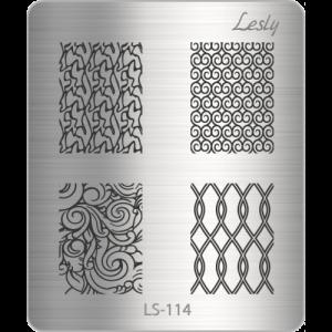 Пластина для стемпинга №LS-114, 5х6 см, Lesly, 130р.