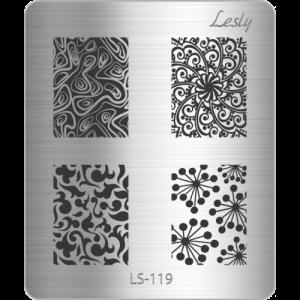 Пластина для стемпинга №LS-119, 5х6 см, Lesly, 130р.