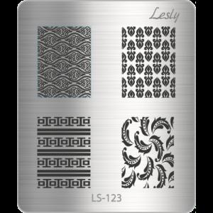 Пластина для стемпинга №LS-123, 5х6 см, Lesly, 130р.
