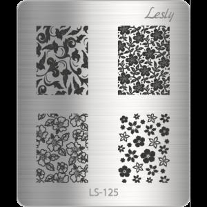 Пластина для стемпинга №LS-125, 5х6 см, Lesly, 100р.