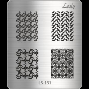 Пластина для стемпинга №LS-131, 5х6 см, Lesly, 130р.