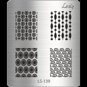 Пластина для стемпинга №LS-139, 5х6 см, Lesly, 130р.