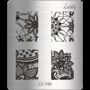 Пластина для стемпинга №LS-140, 5х6 см, Lesly, 130р.