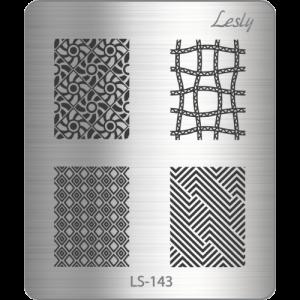Пластина для стемпинга №LS-143, 5х6 см, Lesly, 130р.