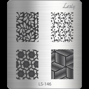 Пластина для стемпинга №LS-146, 5х6 см, Lesly, 130р.
