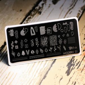 Пластина для стемпинга Modern01 Art-A, 280р.