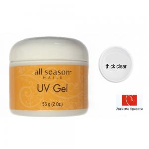 Thick clear gel, скульптурный гель, All Season, 56 мл