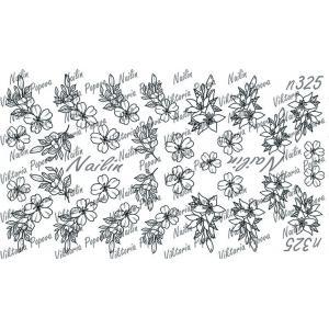 Трафарет Sweet Bloom, NAILIN №325, 200р.