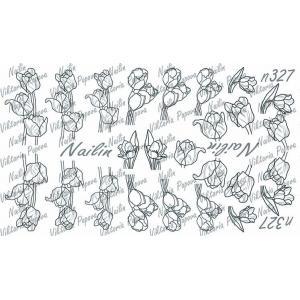 Трафарет Sweet Bloom, NAILIN №327, 200р.