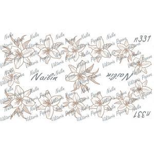 Трафарет Sweet Bloom, NAILIN №331, 200р.