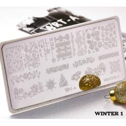 "Пластина для стемпинга ""Winter 1"", 6x12см ,Art-A"