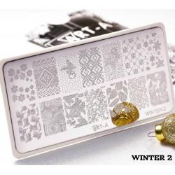 "Пластина для стемпинга ""Winter 2"", 6x12см ,Art-A"