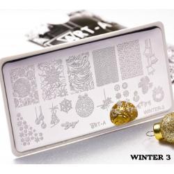 "Пластина для стемпинга ""Winter 3"", 6x12см ,Art-A"