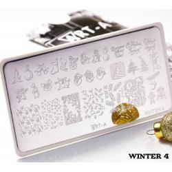 "Пластина для стемпинга ""Winter 4"", 6x12см ,Art-A"