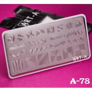Пластина для стемпинга №A-78 , 6x12см ,Art-A, 280р.