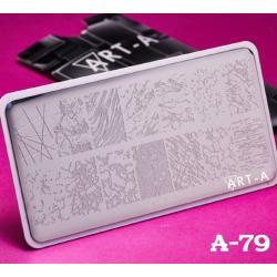 Пластина для стемпинга №A-79 , 6x12см ,Art-A