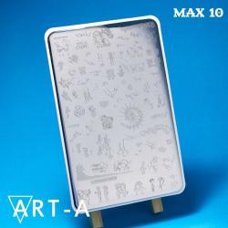 Пластина для стемпинга Max10, 9,5х14,5 см,