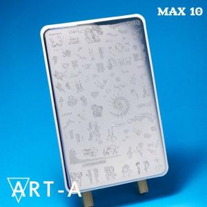 Пластина для стемпинга Max10, 9,5х14,5 см,, 390р.