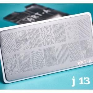 Пластина для стемпинга №J-013 , 6x12см ,Art-A, 280р.