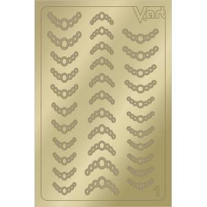 Металлизированные наклейки №1, золото, 100р.