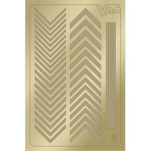 Металлизированные наклейки №5, золото, 100р.