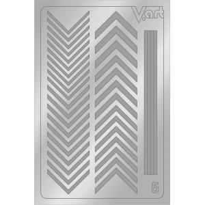 Металлизированные наклейки №5, серебро, 100р.