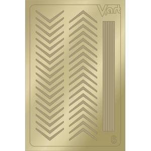 Металлизированные наклейки №6, золото, 100р.
