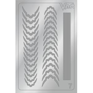 Металлизированные наклейки №7, серебро, 100р.