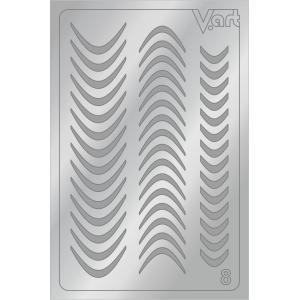 Металлизированные наклейки №8, серебро, 100р.
