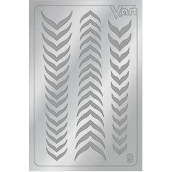 Металлизированные наклейки №9, серебро