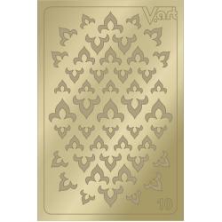 Металлизированные наклейки №10, золото