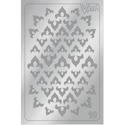 Металлизированные наклейки №10, серебро