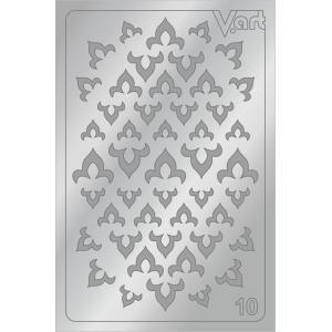Металлизированные наклейки №10, серебро, 100р.
