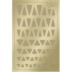 Металлизированные наклейки №12, золото
