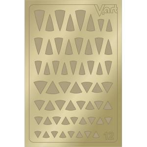 Металлизированные наклейки №12, золото, 100р.