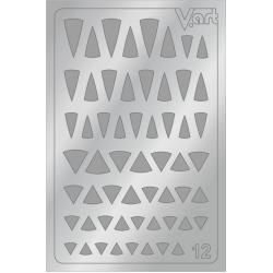 Металлизированные наклейки №12, серебро