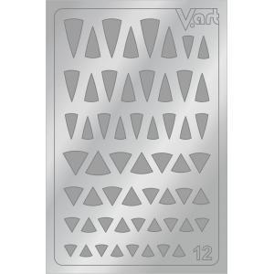 Металлизированные наклейки №12, серебро, 60р.