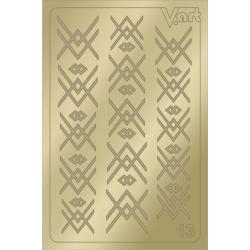 Металлизированные наклейки №13, золото