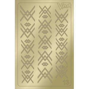 Металлизированные наклейки №13, золото, 100р.