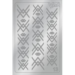 Металлизированные наклейки №13, серебро, 85р.