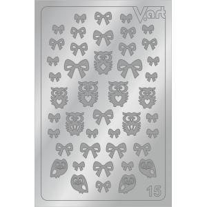 Металлизированные наклейки №15, серебро, 100р.