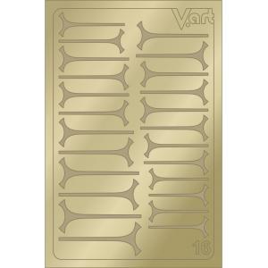 Металлизированные наклейки №16, золото, 100р.