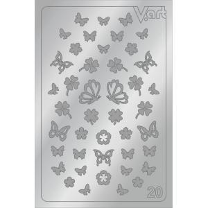 Металлизированные наклейки №20, серебро, 100р.