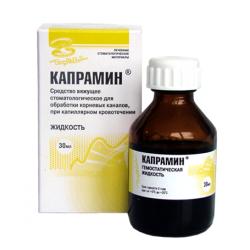 Капрамин, вяжущее средство при капиллярном кровотечении, 30 мл