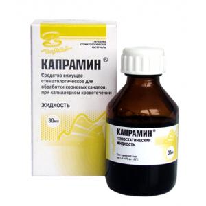 Капрамин, вяжущее средство при капиллярном кровотечении, 30 мл, 250р.