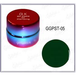 Гель-паста для стемпинга GELLAKTIK №05 Бирюза (GGPST-05)