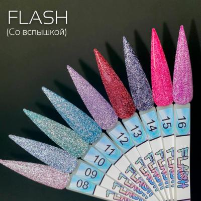 Светоотражающий гель-лак Art-A серия Flash 010, 8ml, 350р.
