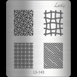 Пластина для стемпинга №LS-143, 5х6 см, Lesly