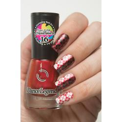 "Stamping №16 ""Metalic Red"", Dance Legend"