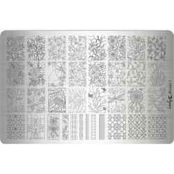 """Пластина для стемпинга """"Mosaic1"""", 9,5х14,5 см, Lesly"""